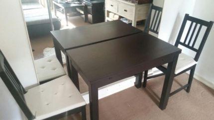 Kleiner Esstisch ausziehbar mit 2 Stühlen (Ikea) in Hamburg ...