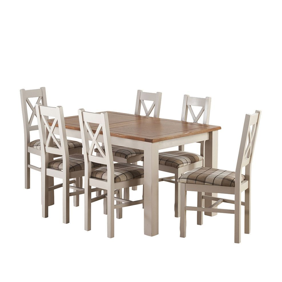 Cream Dining Table and 9 Chairs   Kemble   Oak Furnitureland ...