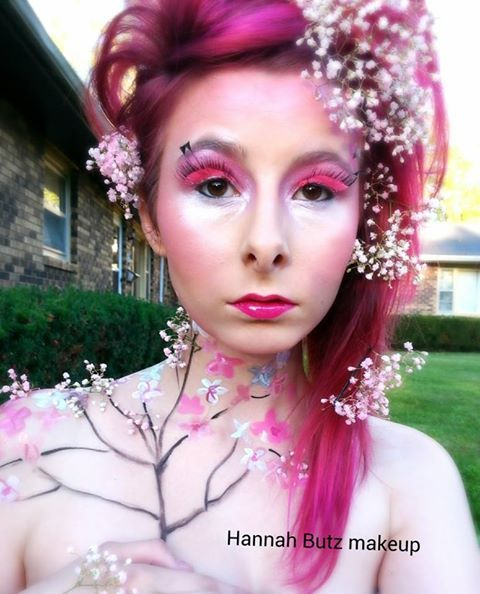 Cherry Blossom Tree Makeup Beauty Makeup Body Painting Simple But Beautiful Www Facebook Com Stylisthannah Hair Beauty Circus Makeup Beauty