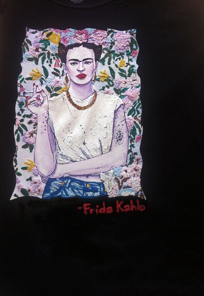 99cff77cc Frida Kahlo T shirt Frida PAINTED 3D Artistic Tshirt | ➕Need this ...
