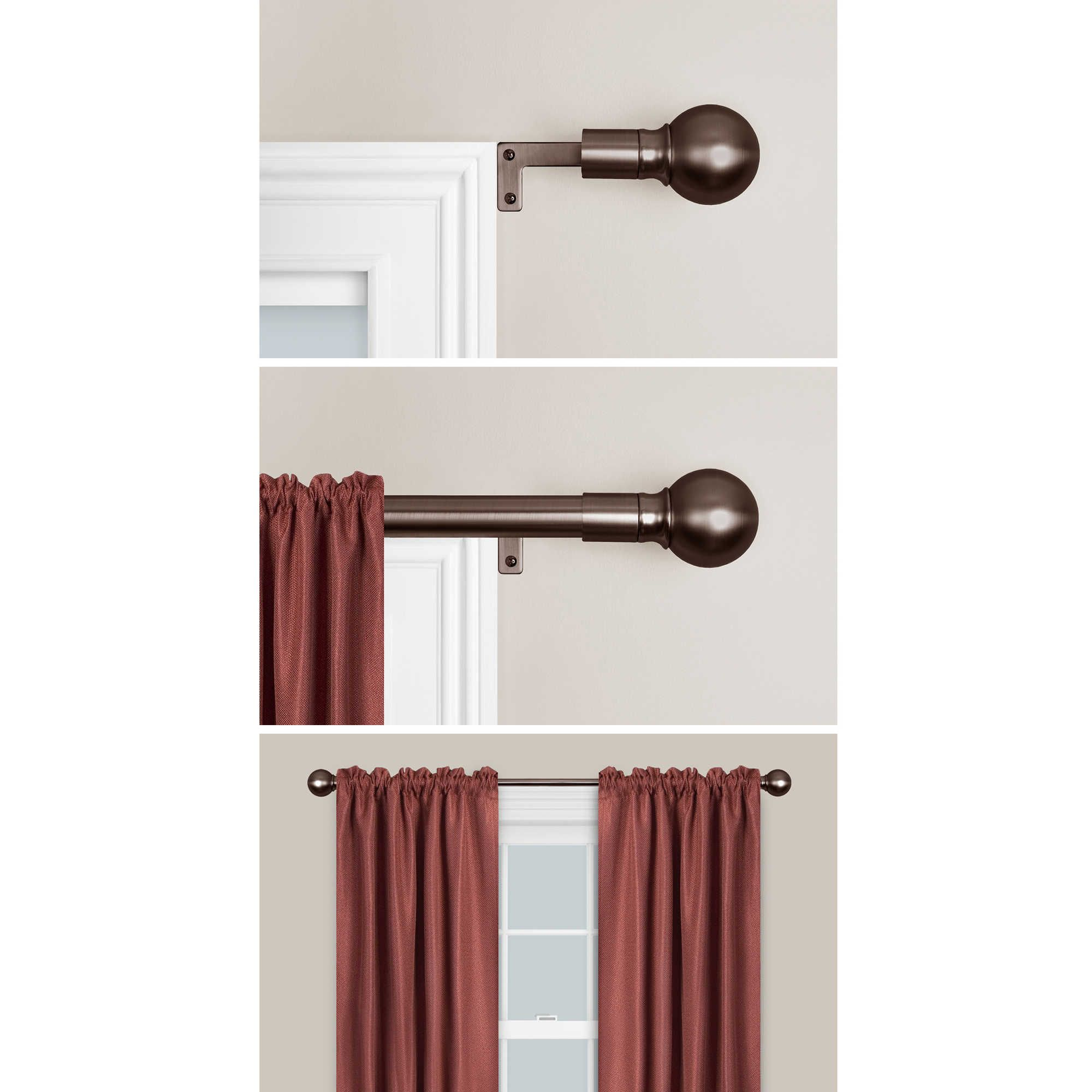 Maytex Smart Rods Easy Install Window Curtain Rod Curtain Rods