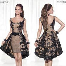 2015 robe de soiree Tarik Ediz Short Cocktail Dress A-line Appliques Knee-length  Formal Dress (China (Mainland)) da16cc00ed63