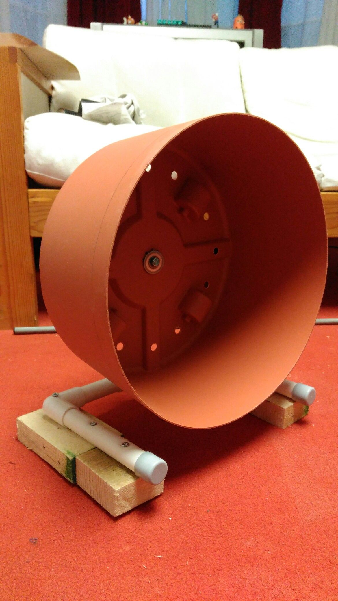 Diy Hedgehog Wheel Made From A Plastic Plant Pot And