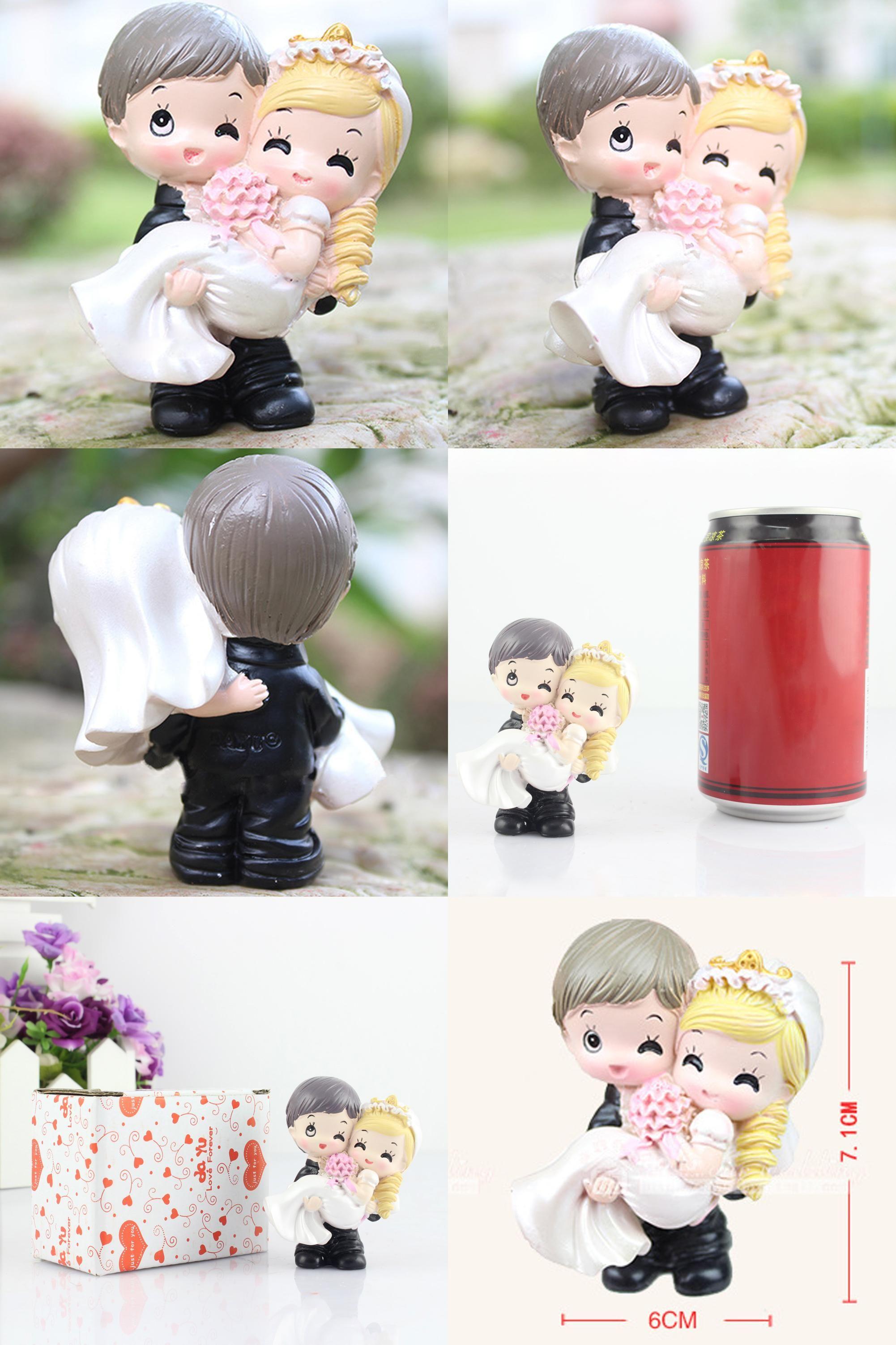 Visit to buy bride and groom loving couple figurine wedding cake