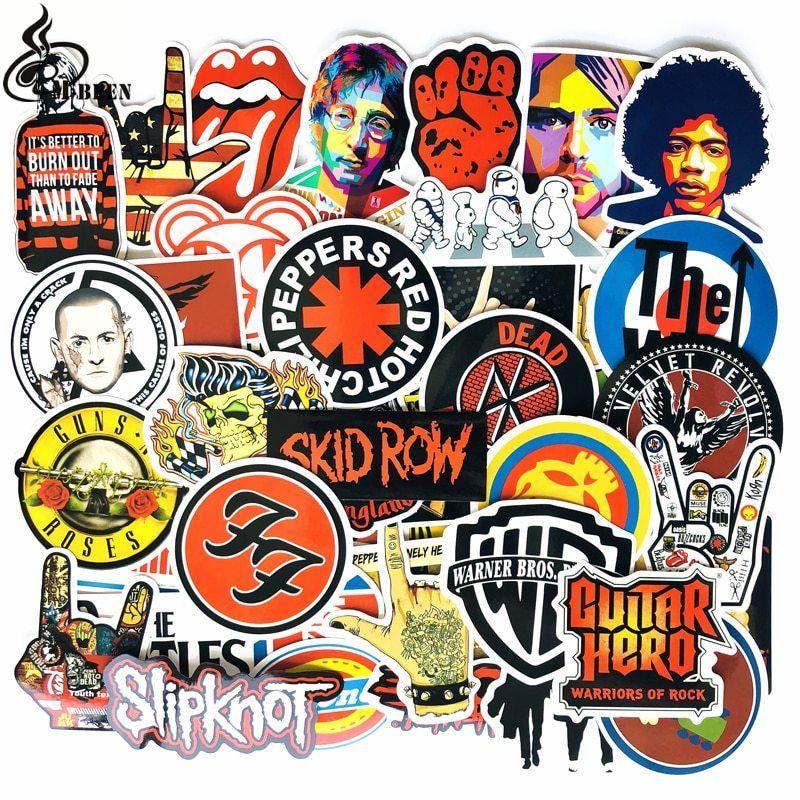 Rock Music Bands Stickers Pack X52 Vinyl Musicians Linkin
