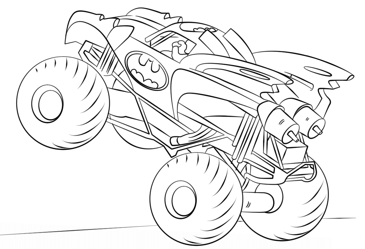 pinkelley vain on monster truck coloring pages