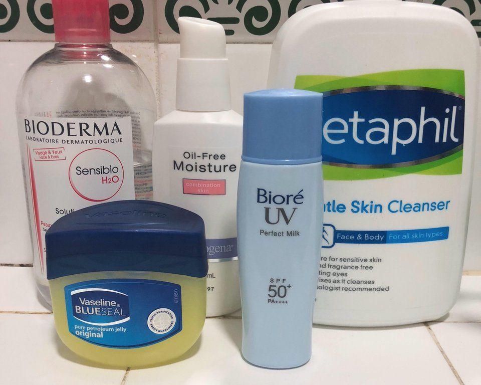 Shelfie Minimal Skincare Routine Of A Student On Differin Adapalene Skincareaddiction Minimal Skincare Beauty Skin Care Routine Best Skin Care Regimen