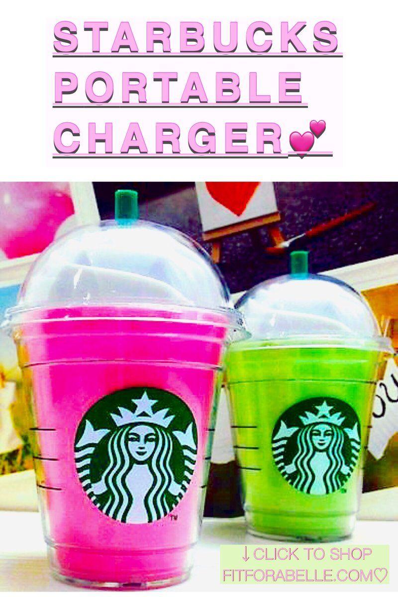 Starbucks Frappachino iPhone Pink Power Bank Charger - Starbucks Frappachino iPhone Pink Power Bank...