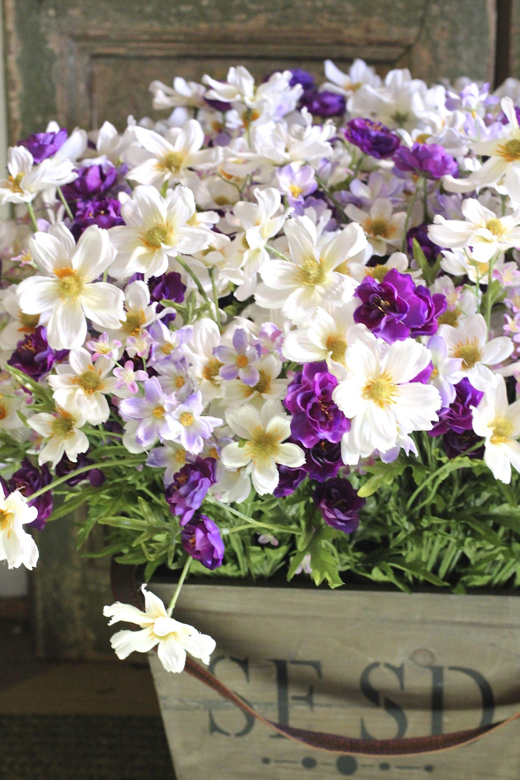 Purple white flower arrangement home decor pinterest white purple white flower arrangement mightylinksfo