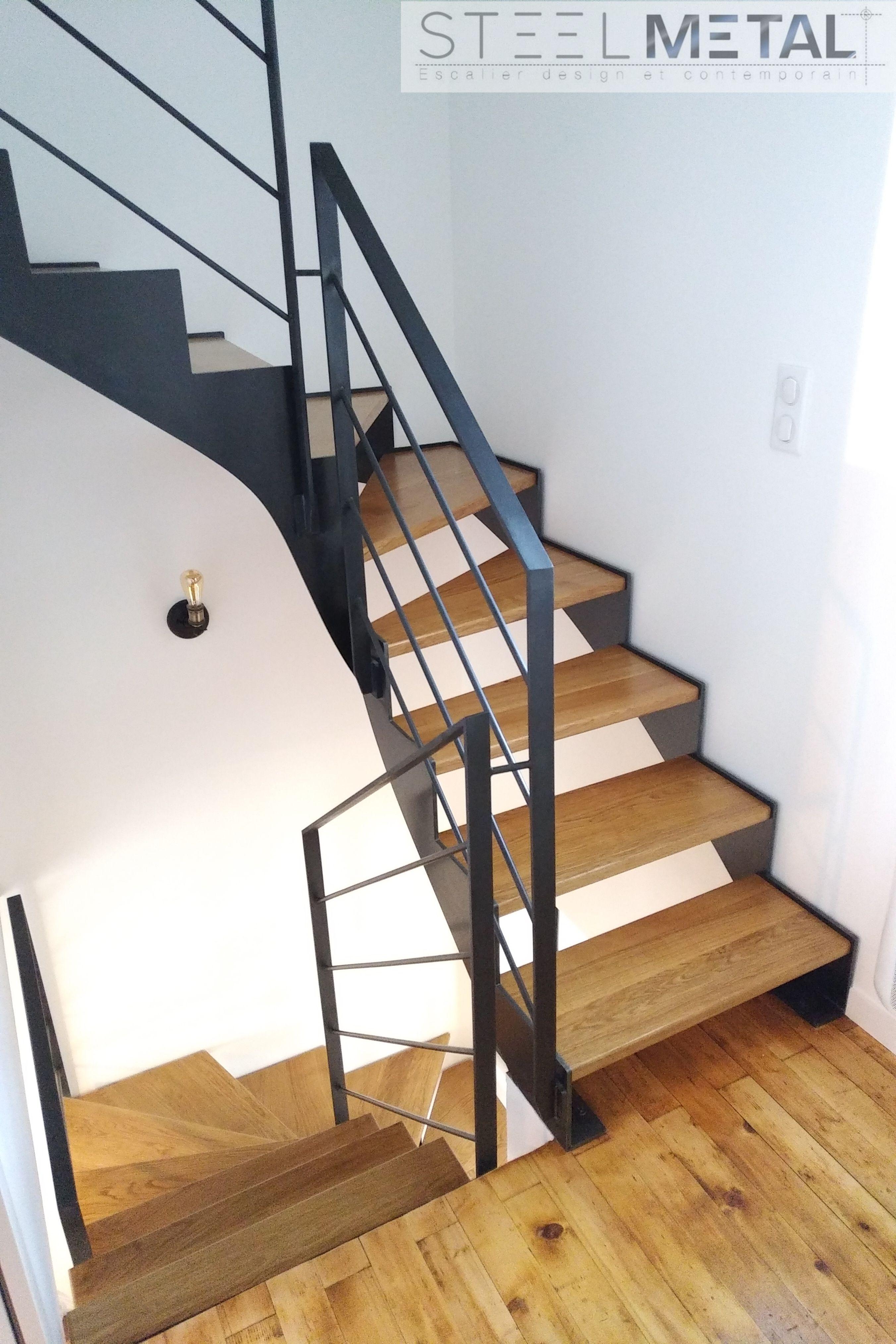 Escalier Double Quart Tournant Fabriques Sur Mesure Et Pas Cher