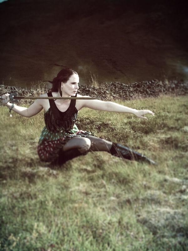 w a r r i o r on Behance  #fashion #editorial #model #feathers #light #warrior #icelandic #viking #sword