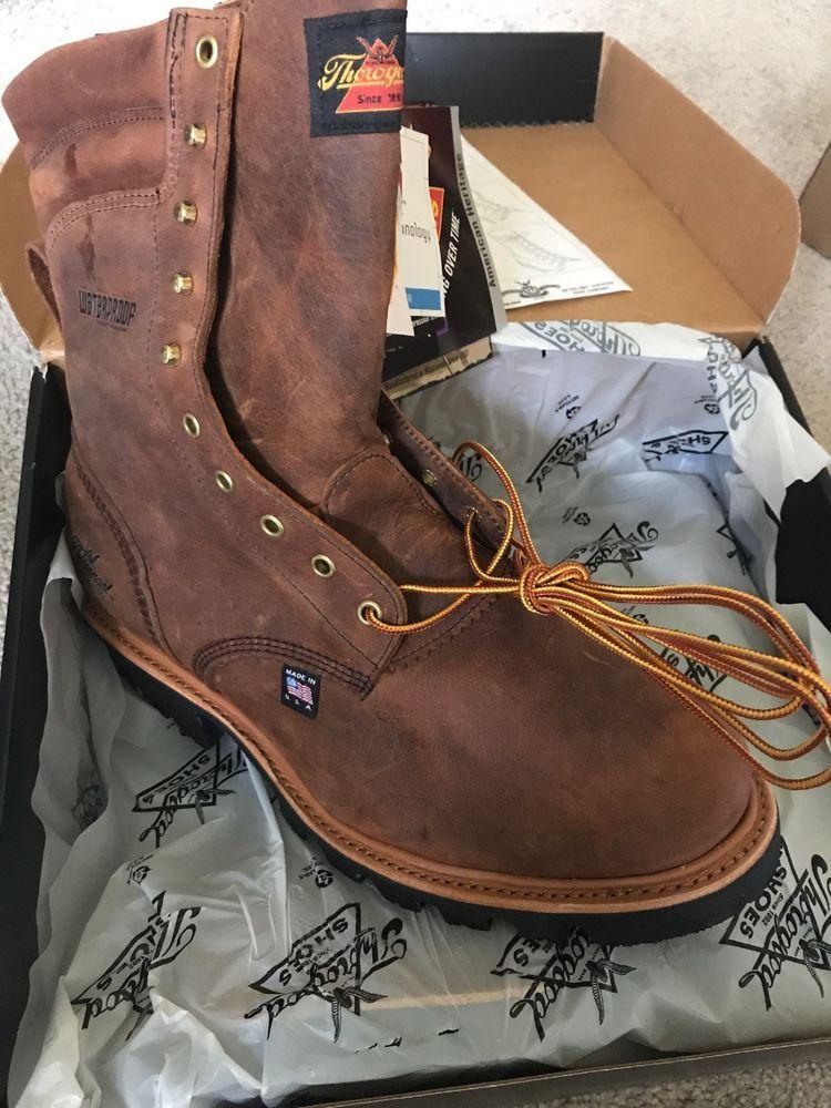 d25e640d887 Thorogood Boots Men Size 11 804-3550 8 Waterproof Insulated Logger ...