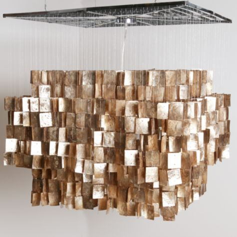 Stop It I Need This In My Master Bedroom Gold Capiz Chandelier From Z