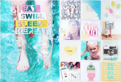 """In The Scrap: Project Life Double Page """"Summer"""" with Tutorial - Por Steffi"""