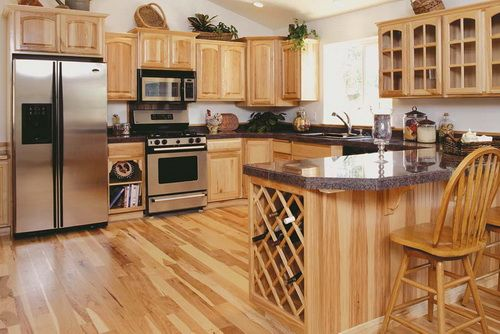 Hickory Kitchen Cabinets With Dark Granite Countertops Hickory Kitchen  Cabinets