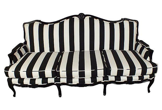 Provencal Style Sofa Black And White Striped Sofa I D Die
