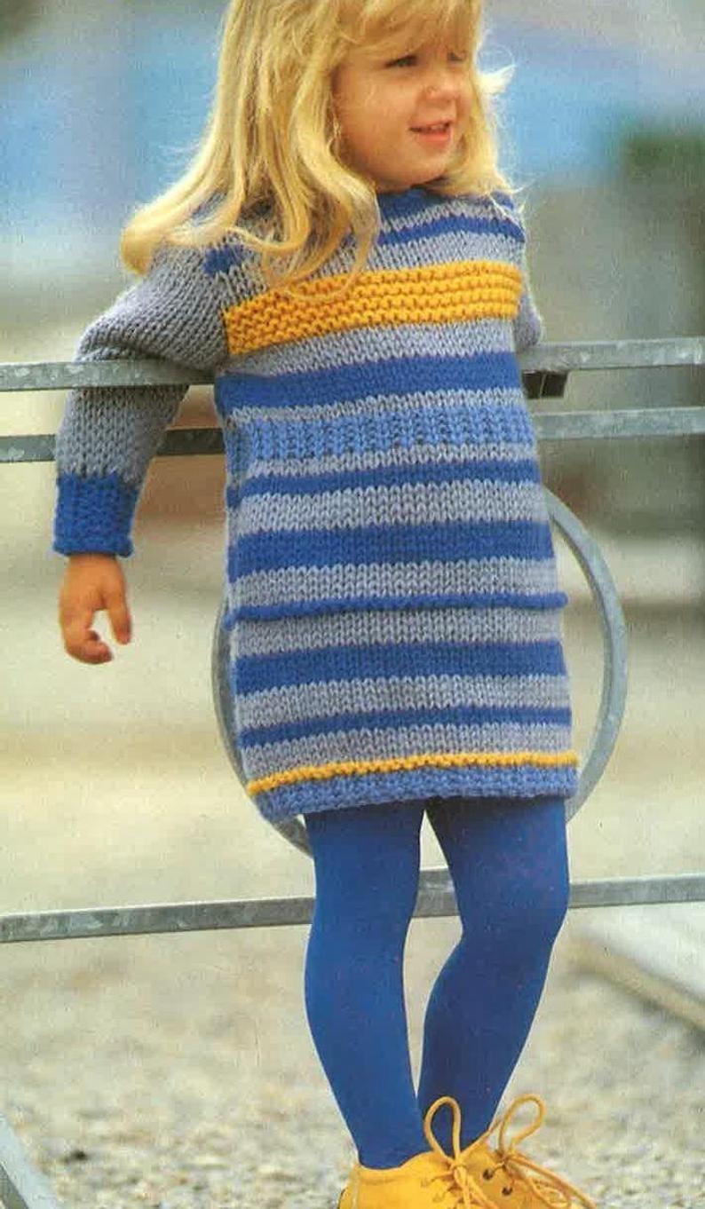 Knitting Pattern Girls Dress Knitted Dress Frock Size 22ins Etsy In 2021 Knit Dress Pattern Girls Knitted Dress Knit Dress Pattern Free [ 1362 x 794 Pixel ]