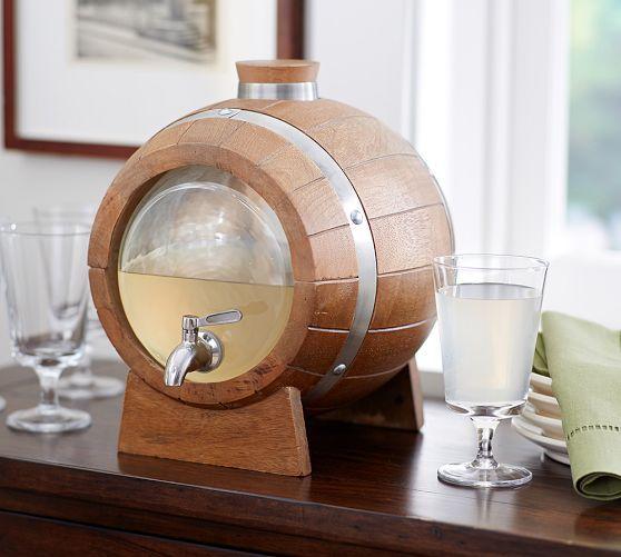Wine Barrel Drink Dispenser Pottery Barn Wine Barrel