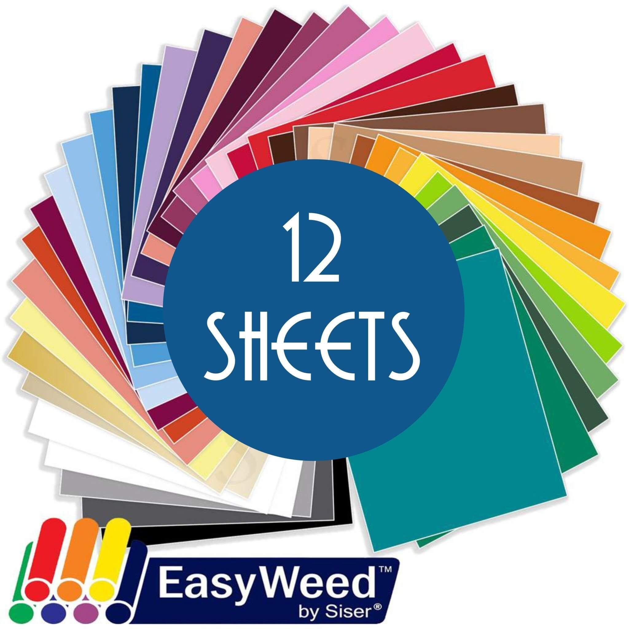 Siser Easyweed Heat Transfer Vinyl Htv 12 Sheets Build A Bundle 12 X 15 Siser Easyweed Oracal Vinyl Easyweed