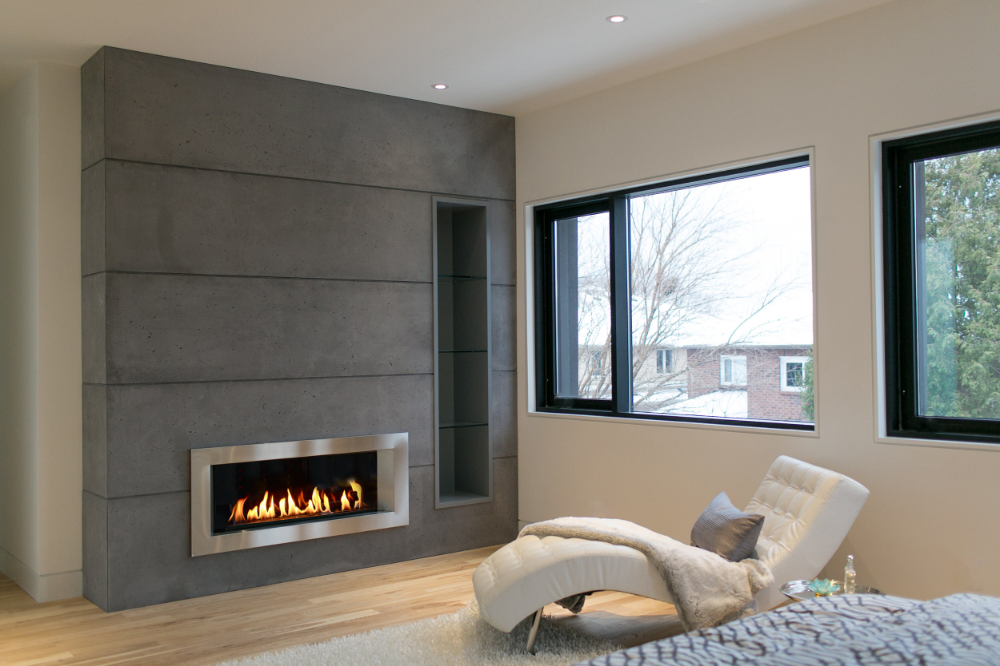 Lightweight Concrete Cladding Panels Firepit Gallery In 2020 Cladding Fireplace New Homes