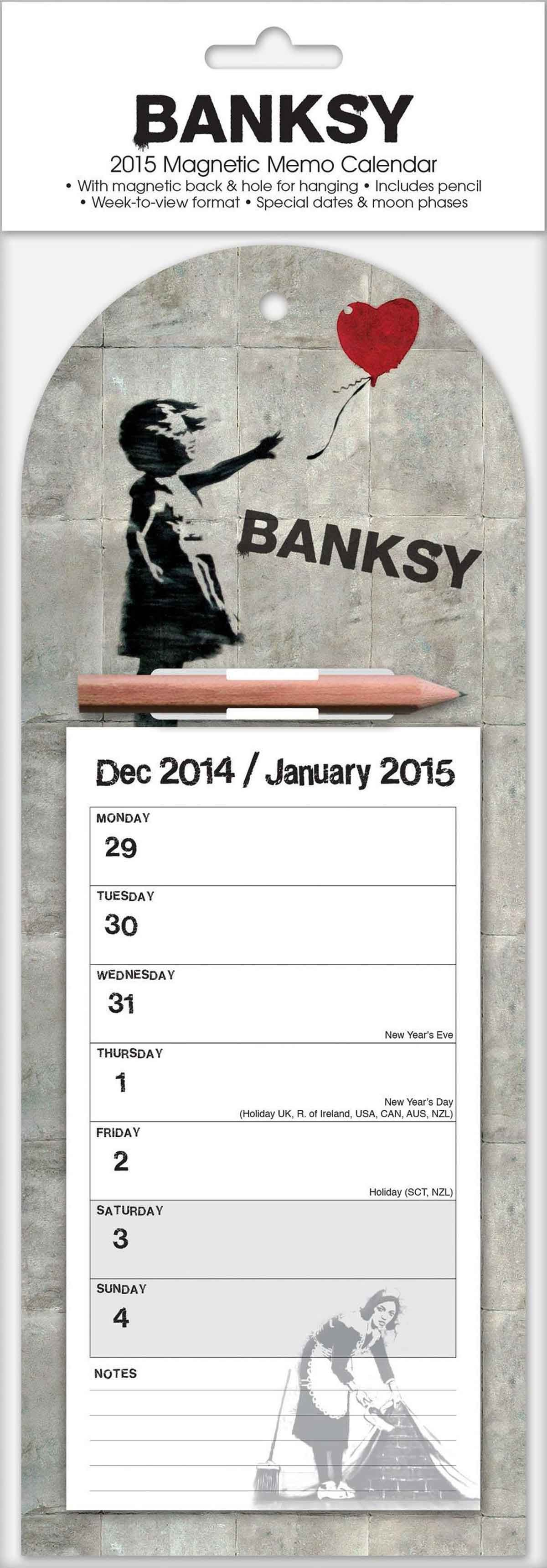 banksy magnetic calendar 2016 calendars pinterest magnetic