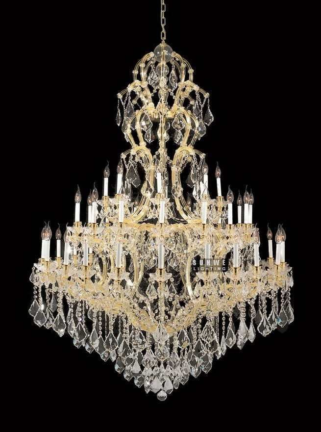 Aliexpress buy 48 lights gold empire crystal chandelier aliexpress buy 48 lights gold empire crystal chandelier lighting used large chandelier for aloadofball Images