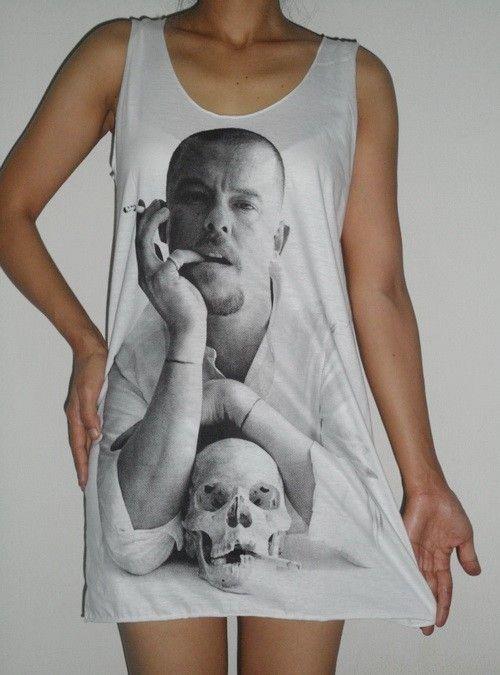 Alexander Mc Queen designer lady Tshirt Tank top Mini dress $16