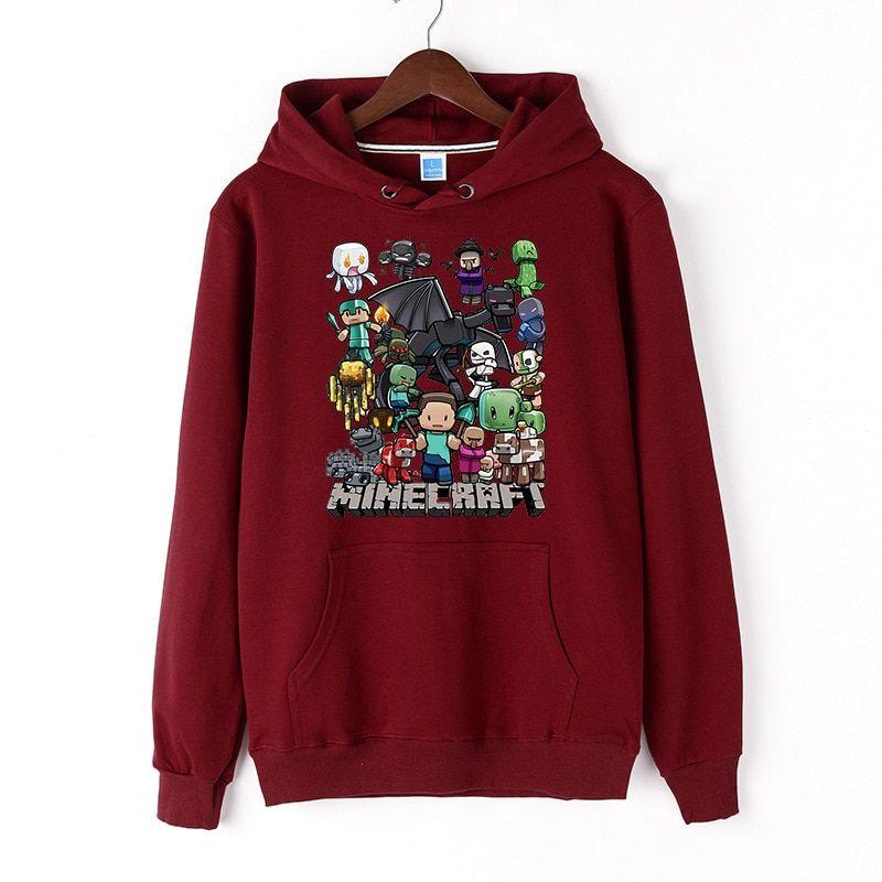 Minecraft autumn hooded adult sweatshirt hoodie print