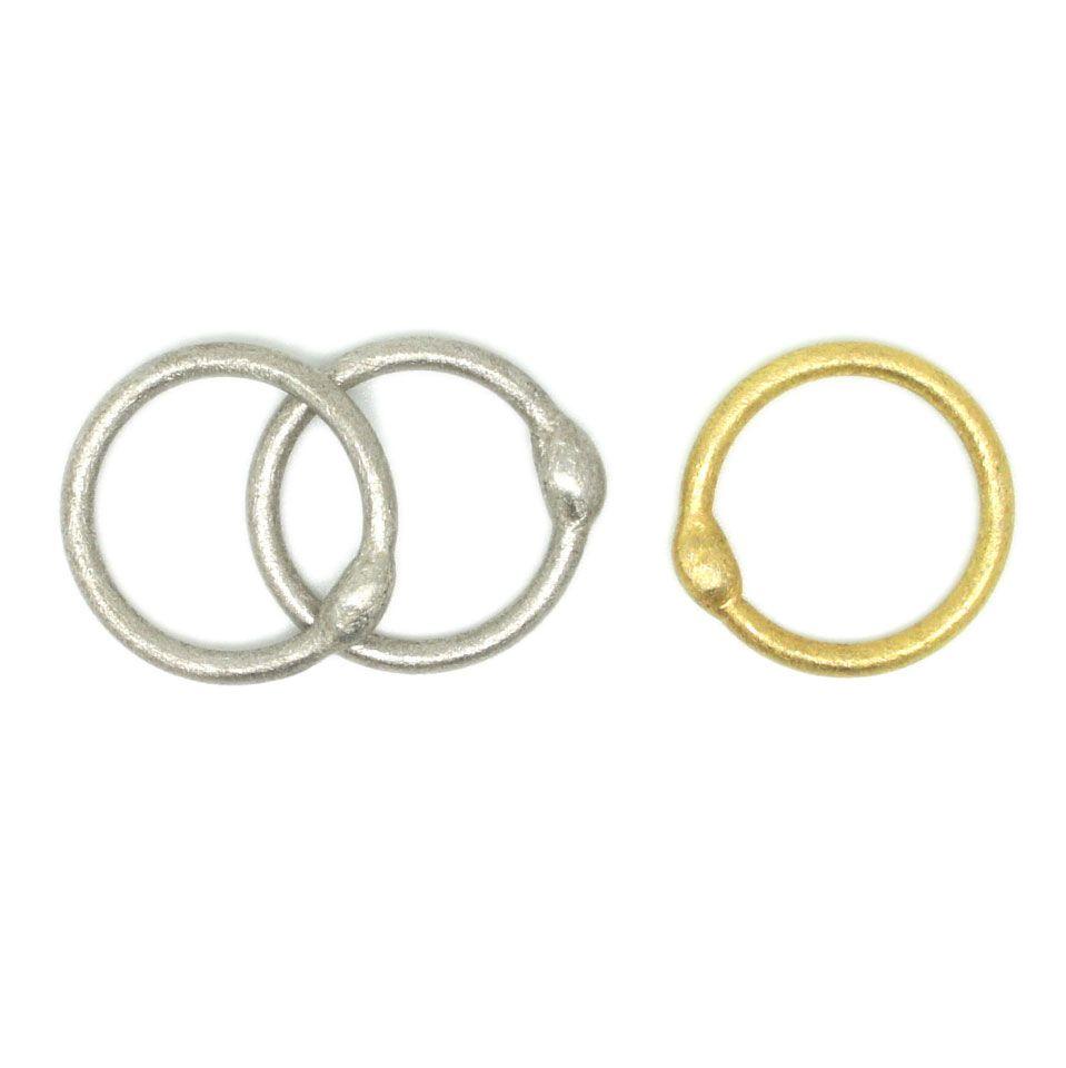 964243305 ORRO.co.uk - Erik Urbschat - Gold & Silver Orbit Rings - ORRO Contemporary  Jewellery Glasgow