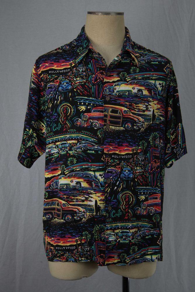 3e481ef953b Art of Eddy Y Reyn Spooner RARE Vintage Hot Rods Hollywood Drive Ins  Surfing  ReynSpooner  ButtonFront