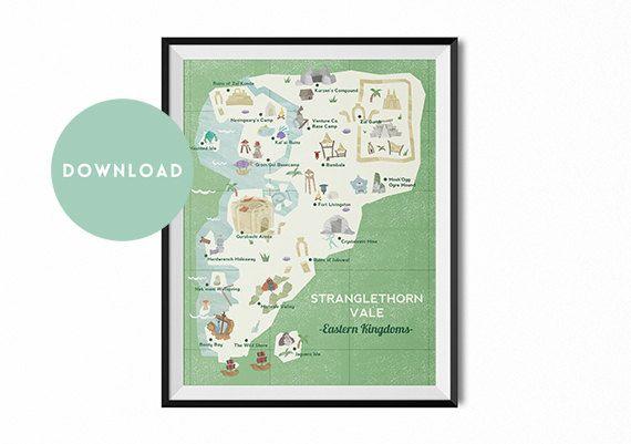 World of Warcraft travel poster Stranglethorn by TheGlassMountain