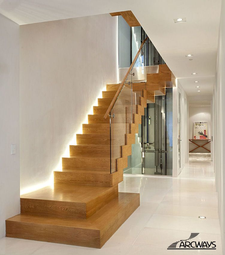 21 Staircase Lighting Design Ideas Pictures: Straight Staircases