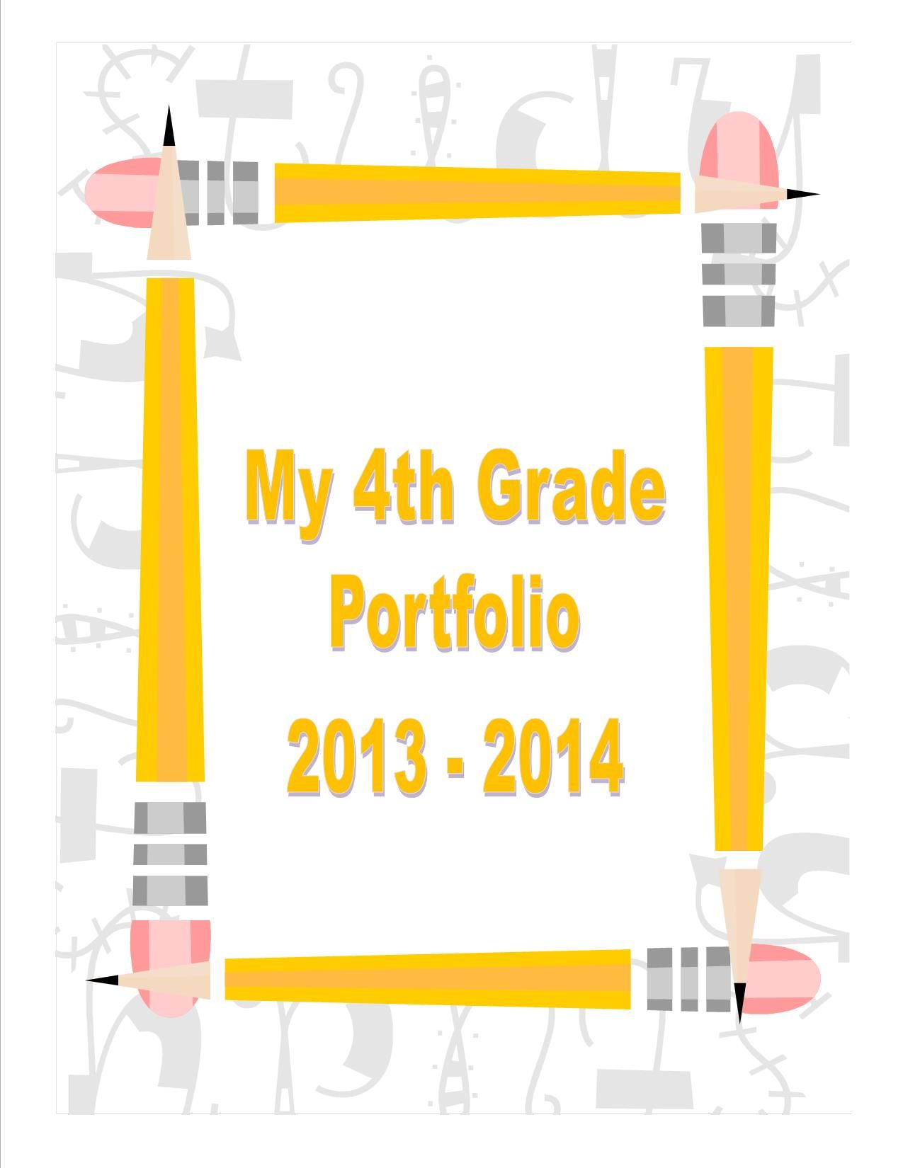 student portfolio cover page student portfolios student portfolio cover page