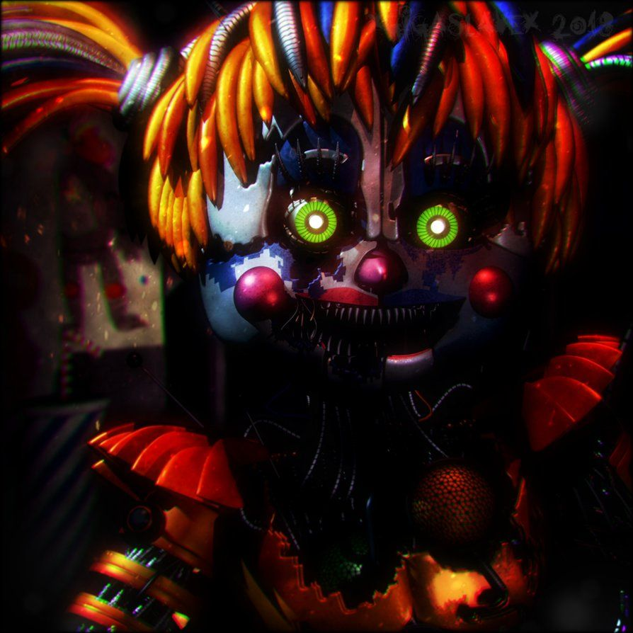 Cinema4d Fnaf Scrap Baby By Xxbetenoirexx Fnaf Baby Fnaf