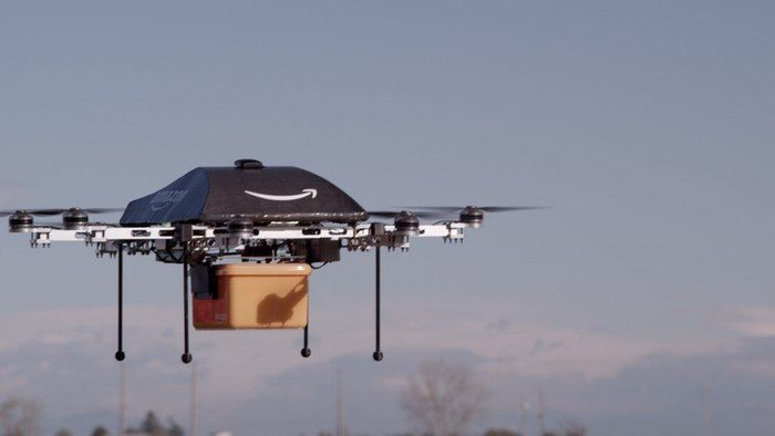 According to Amazon CEO Jeff Bezos, the drones will deliver packages to customers within 30 minutes ...
