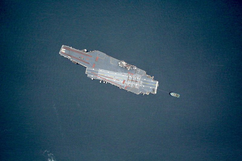 NASA Captured the Lonely Last Journey of an Aircraft Carrier