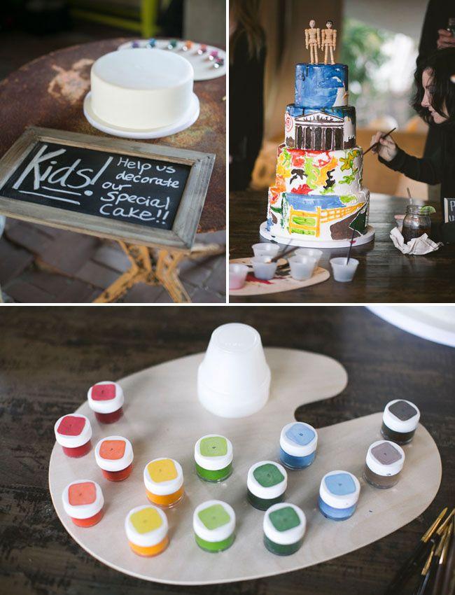 Huikee idis.. Elintarvikevärit, pensselit ja kakku! :)