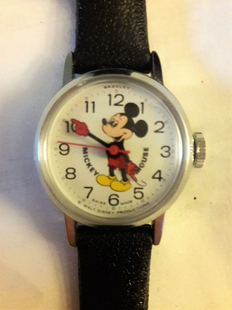Mickey Mouse Watch Value >> Details About Vintage Walt Disney Productions Swiss Made