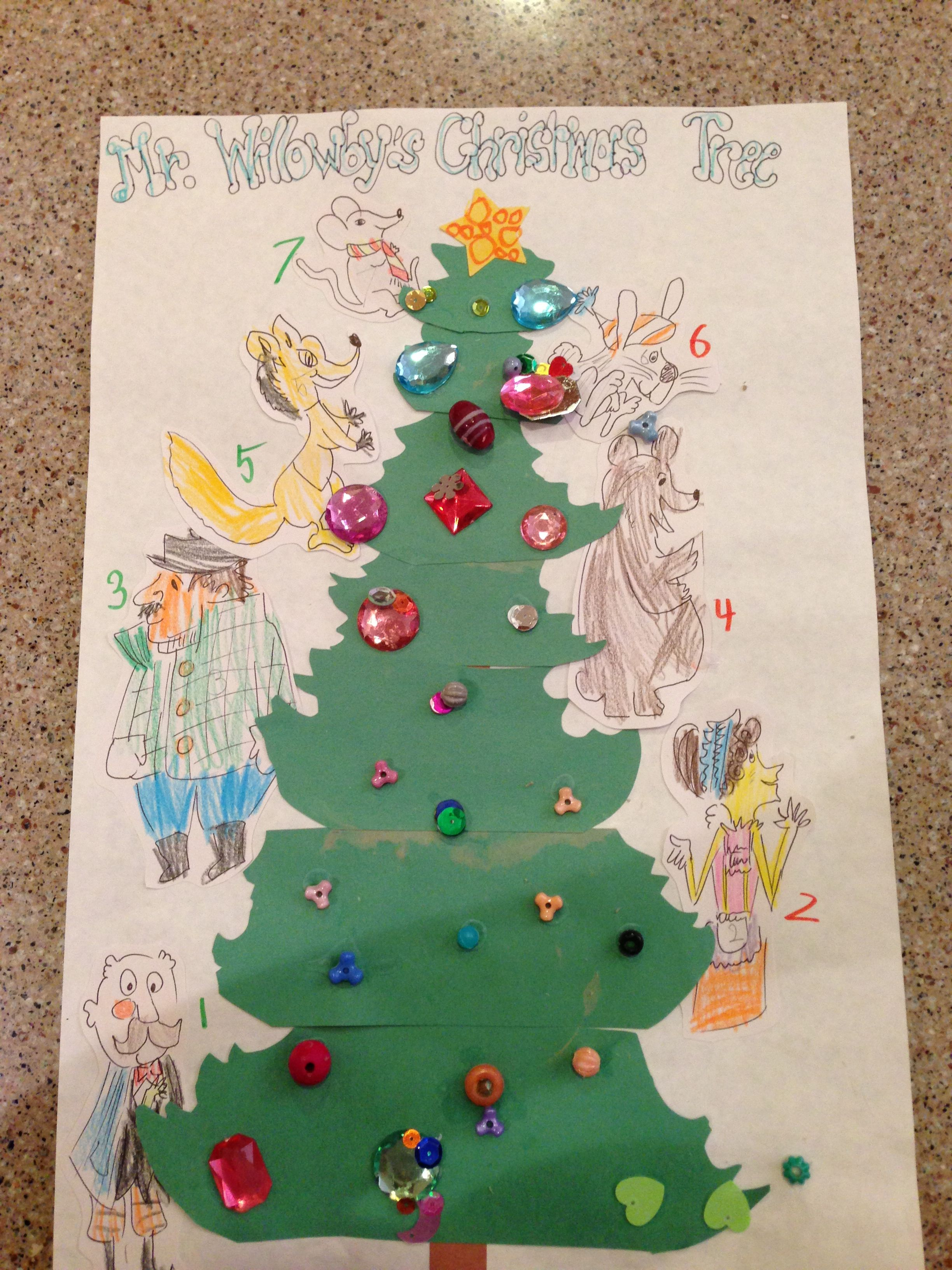 Mr Willowby S Christmas Tree Story Sequence Craft