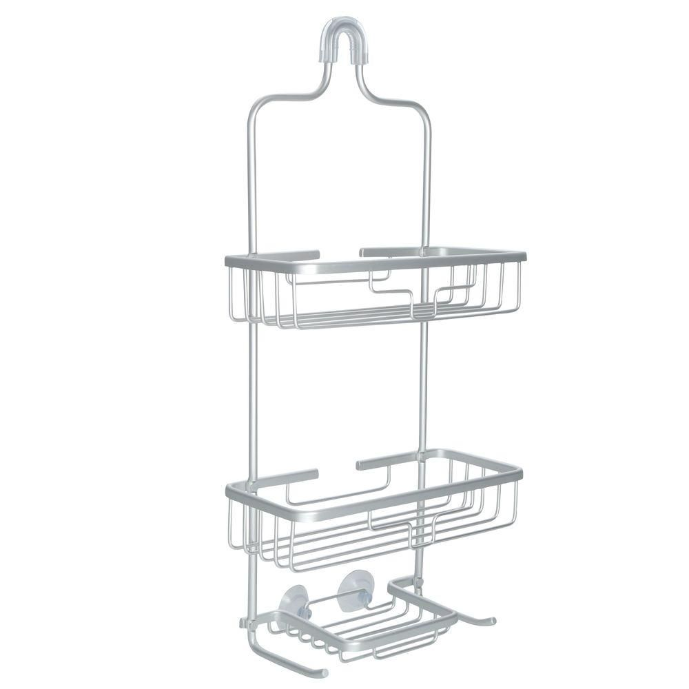 Glacier Bay Rustproof Over-the-Shower Caddy in Satin Chrome ...