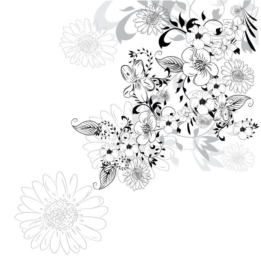 Abstract Flower Background By Lindwa.deviantart.com On