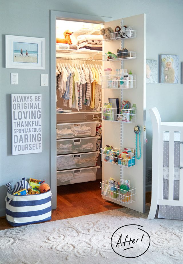 Making Room For Baby Max Nursery Closet Organization Baby Closet Baby Organization