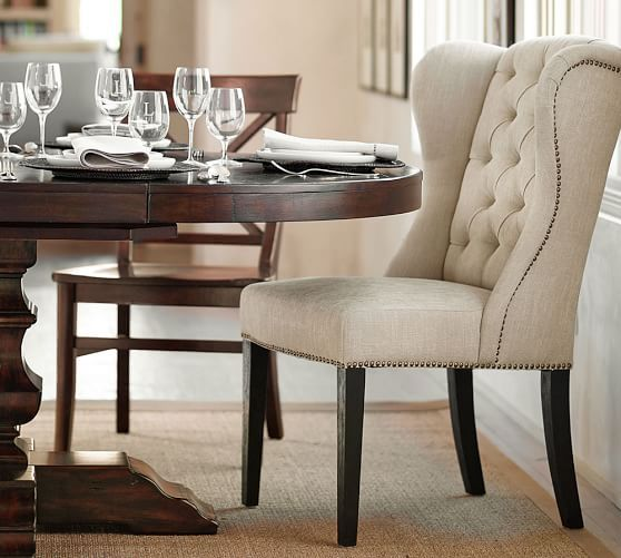 Thayer Tufted Wingback Dining Chair Wingback Dining Chair Tufted Dining Room Chair Dining Chairs