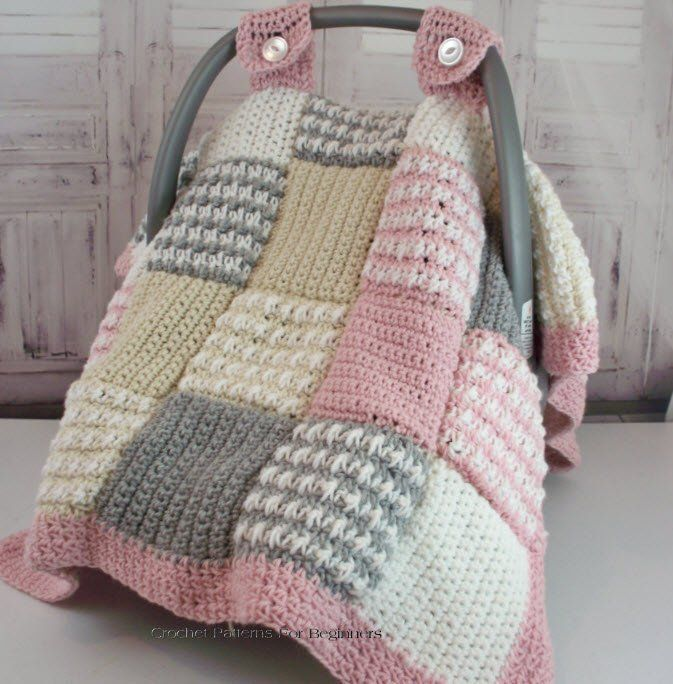 Photo of Crochet Pattern Baby Car Seat Cover Baby Crochet Car Seat Canopy Baby Blanket Cr…