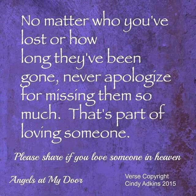 Missing someone in heaven! | If you love someone, Grieving quotes