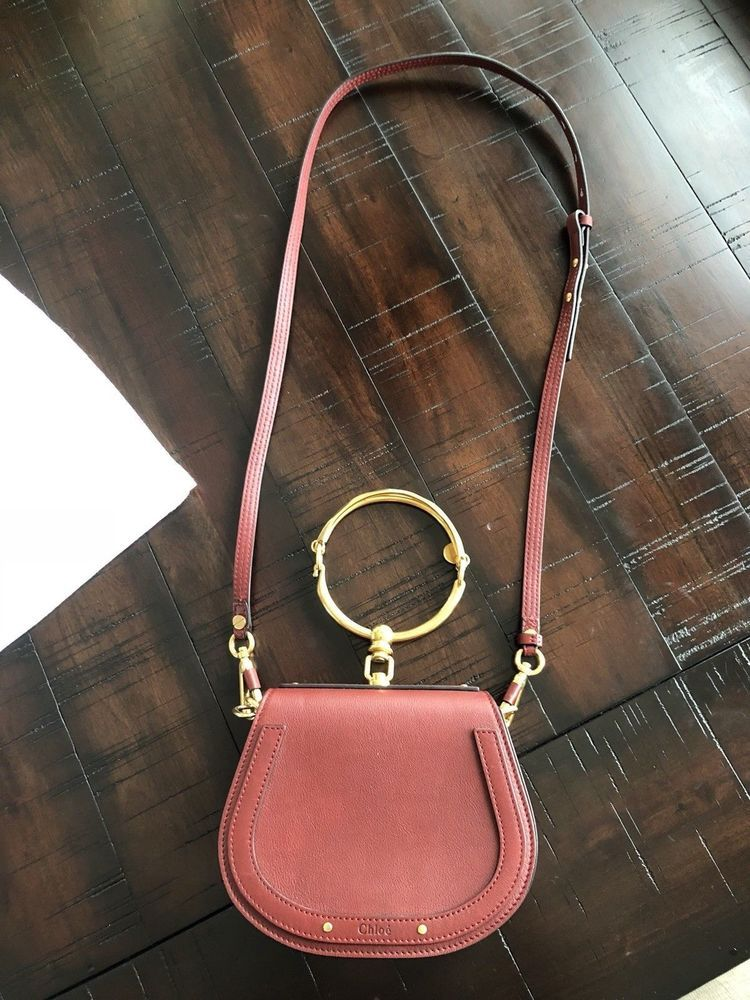 237a08132756 NEW Chloe Nile Bracelet Shoulder Bag Small Red  fashion  clothing  shoes   accessories  womensbagshandbags  ad (ebay link)