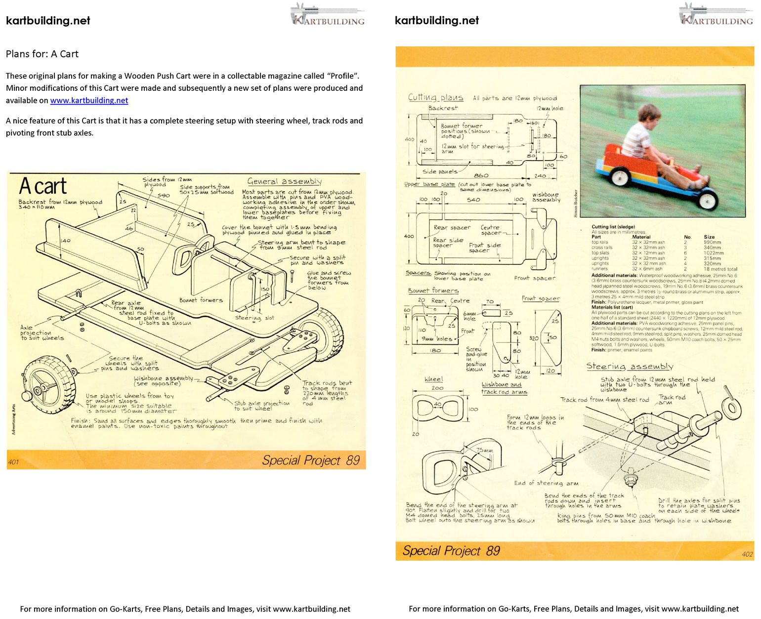 pedal cart | free cart plans :: how to build a simple wooden