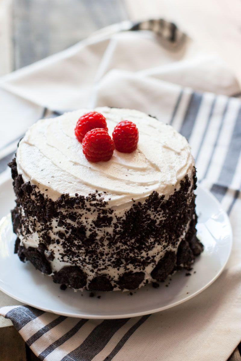 Super Vanilla Raspberry Oreo Cake Recipe With Images Oreo Cake Funny Birthday Cards Online Overcheapnameinfo