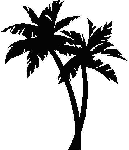 Este style por la tatu | Palm tree silhouette, Palm tree vector ...