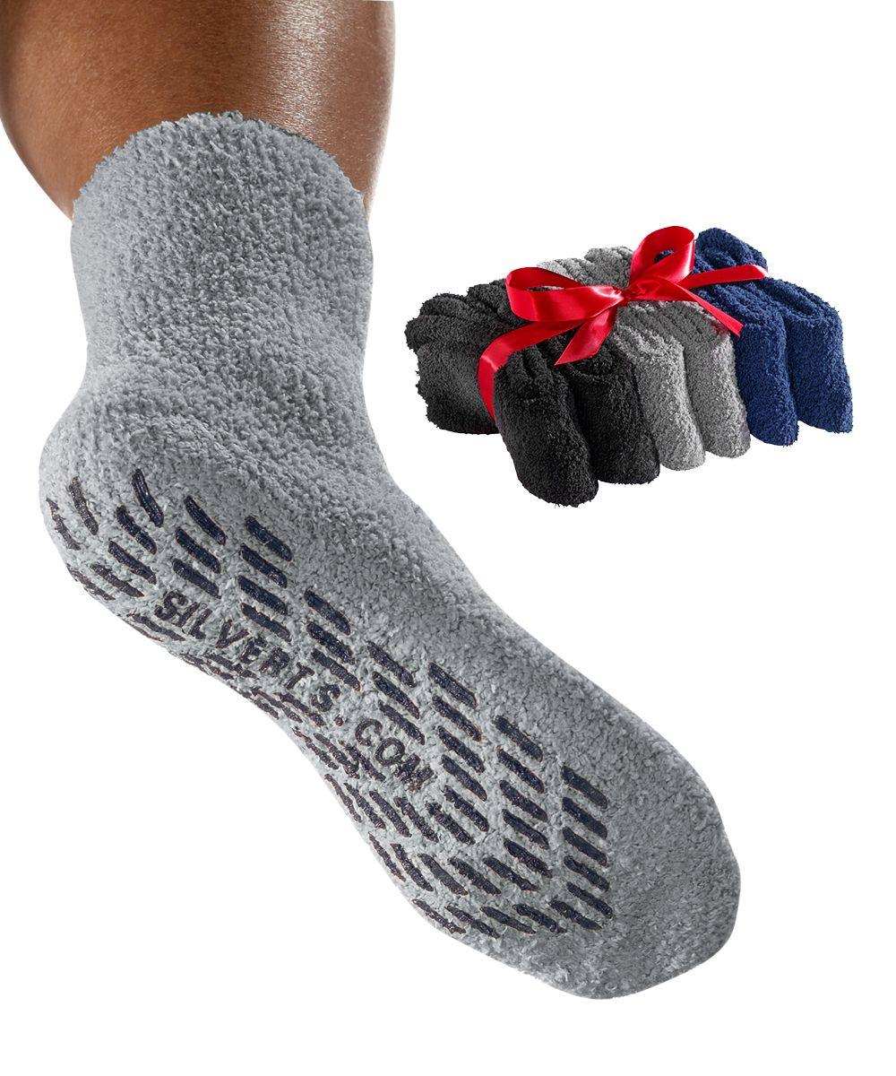 Mens / Womens Non Skid Hospital Socks 6 Pack Slipper